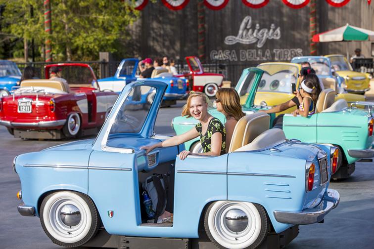 Luigi's Rollickin' Roadsters in Disneyland; Courtesy Disney