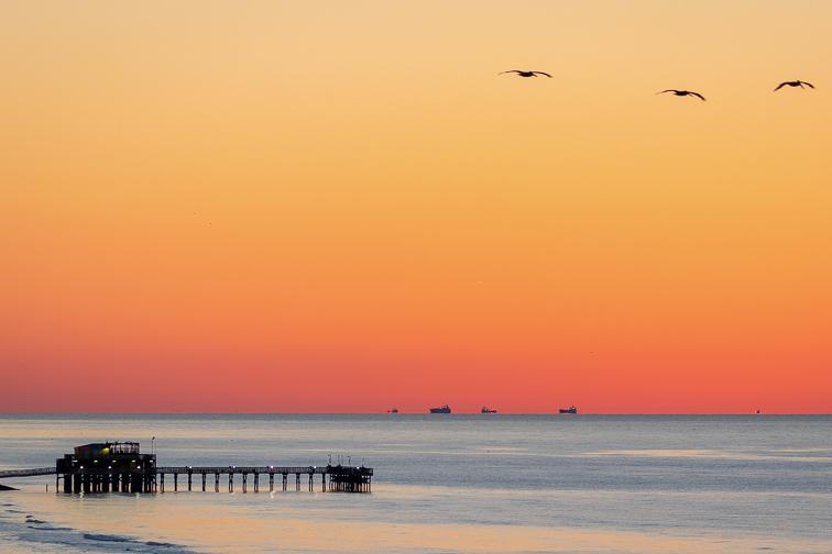 East Beach, Galveston; Courtesy of Visit Texas