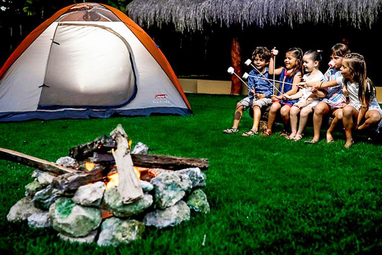 Grand Velas Riviera Maya kids camping activity; Courtesy of Grand Velas Riviera Maya