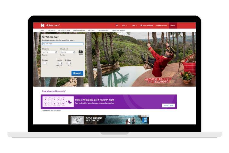 hotels.com screenshot