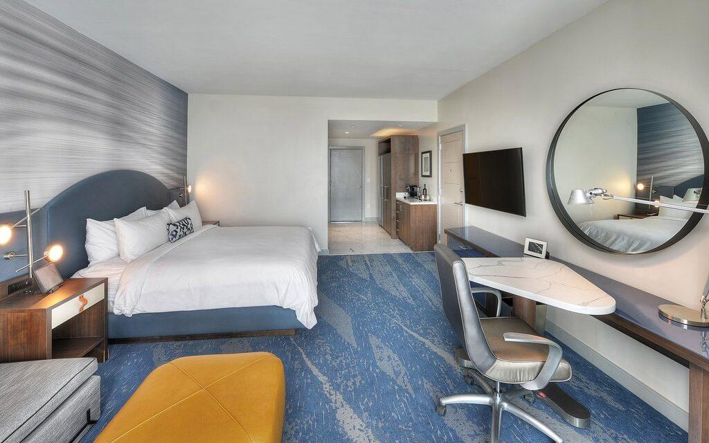 The Daytona Hotel guestroom; Courtesy of The Daytona