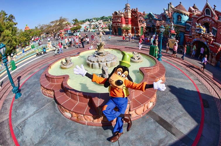 pluto at disneyland; Courtesy Disney