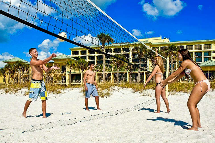 Sirata Beach Resort volleyball beach activity; Courtesy of Sirata Beach Resort