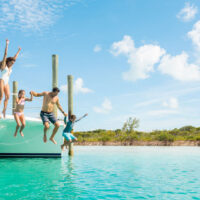 Family in the Bahamas