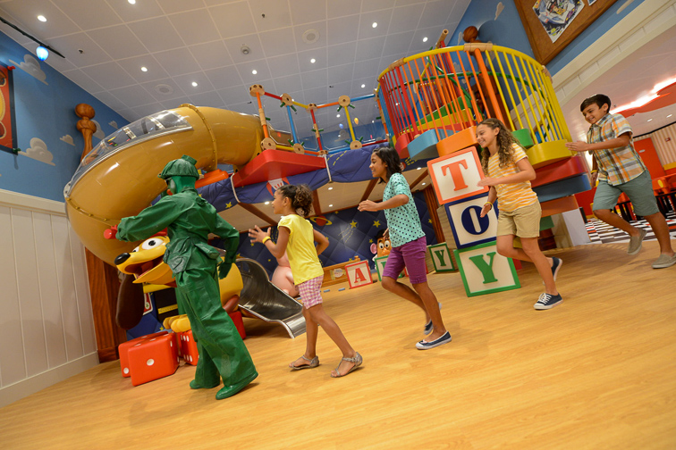Disney Cruise Line Andy's Room – Toy Story Boot Camp; Courtesy Disney Cruise Line