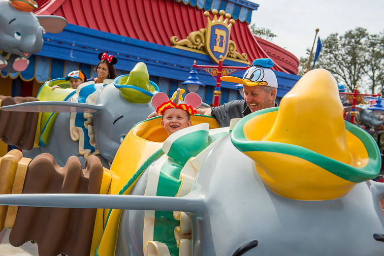 Fun with Little Ones on Dumbo the Flying Elephant; Courtesy Disney