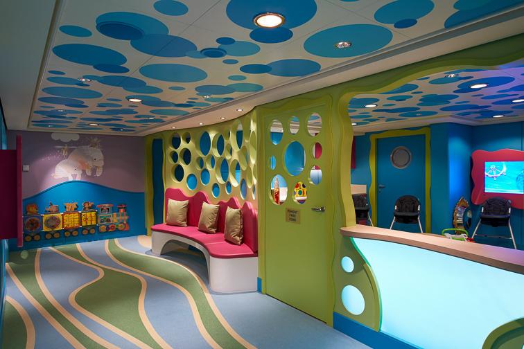 Norwegian Cruise Line Guppies Nursery; Courtesy Norwegian Cruise Line