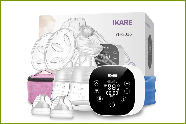 IKARE Double Breast Pumps Hospital Grade, Electric Portable -; Courtesy Amazon