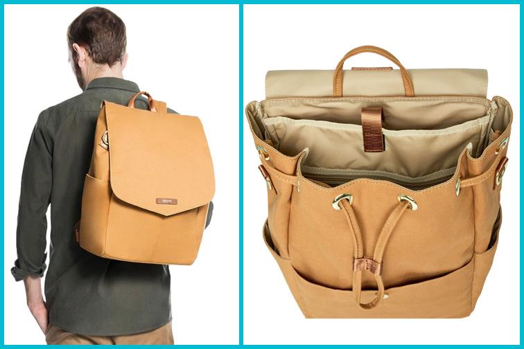 Julien Canvas Backpack by Leader Bag Co.; Courtesy Leader