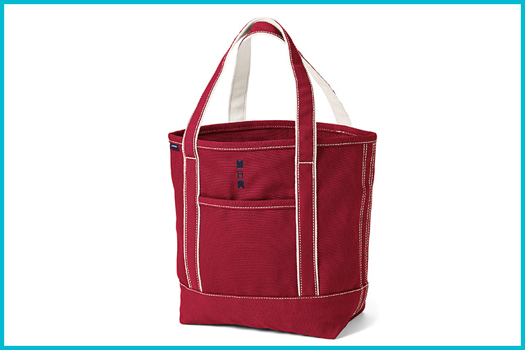 Medium Zip Top Canvas Tote Bag by Land's End; Courtesy Land's End