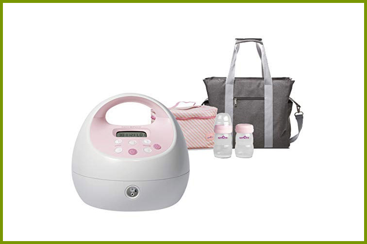 Spectra S2Plus Electric Breast Pump with Gray Tote and Cooler; Courtesy Amazon