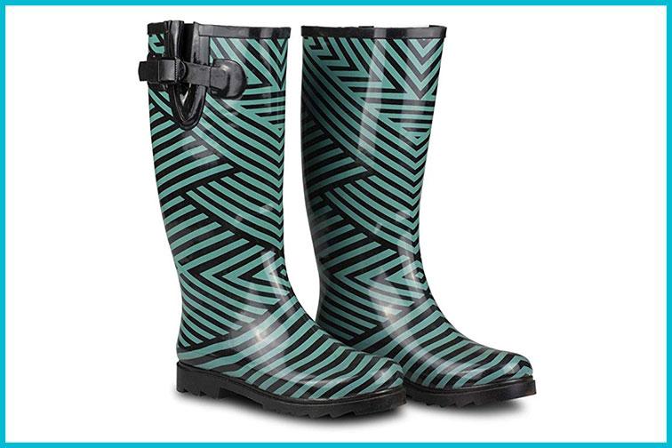 Twisted Rainboots; Courtesy of Amazon
