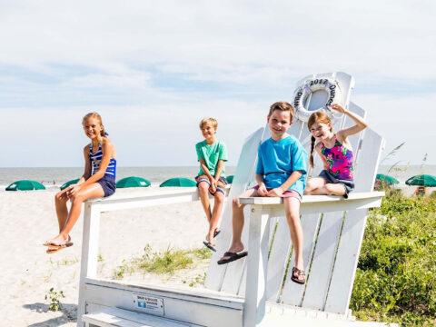 Kids at Wild Dunes Resort in Isle of Palms, SC