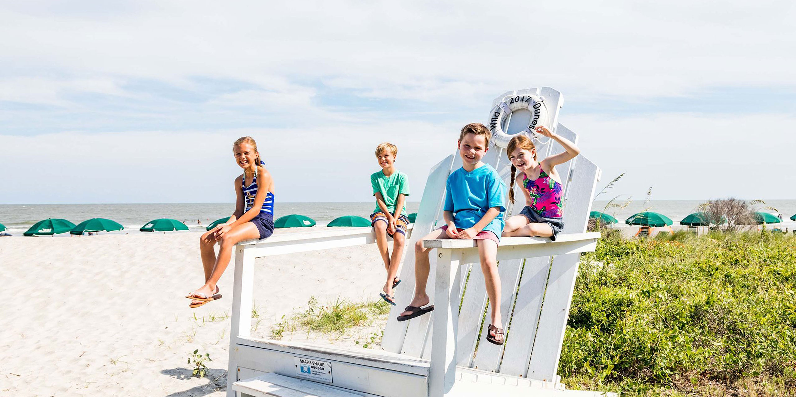 Kids at Wild Dunes Resort in Isle of Palms, SC