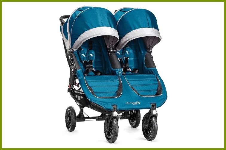 Blue Baby Jogger Double Stroller