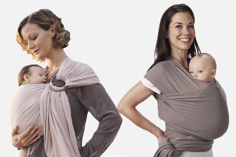 baby sling product vs baby wrap product; Courtesy Amazon