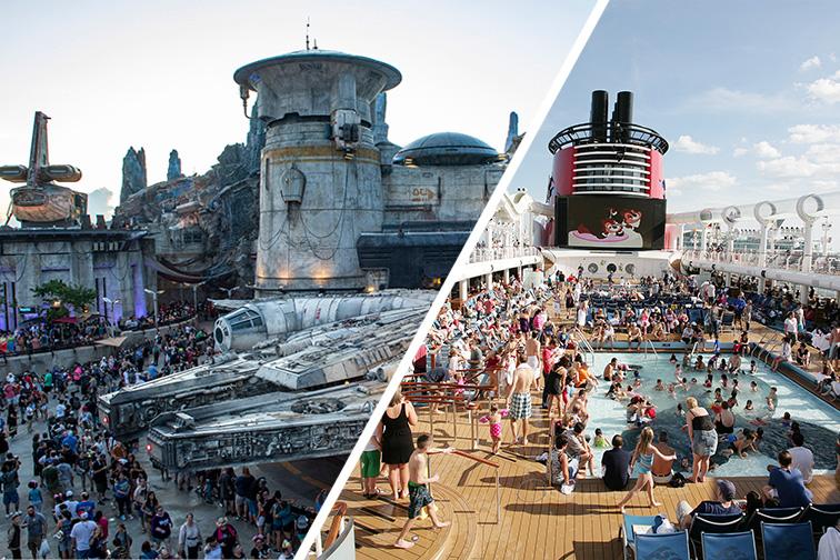 Crowds at Disney World vs. Disney Cruise; Courtesy Disney