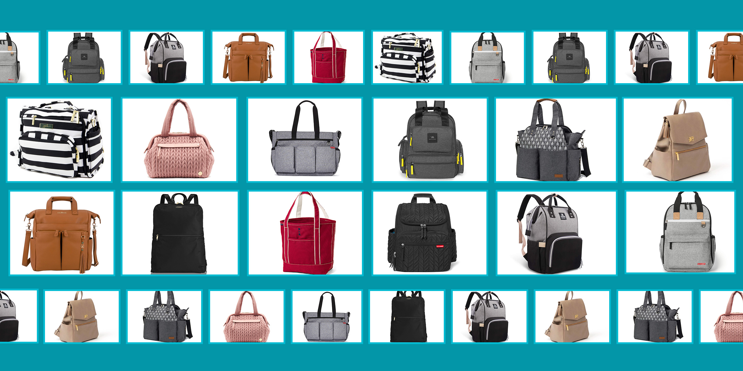 Diaper bags for mom collage