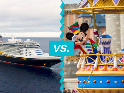 Disney Cruise vs. Disney; Courtesy of Disney