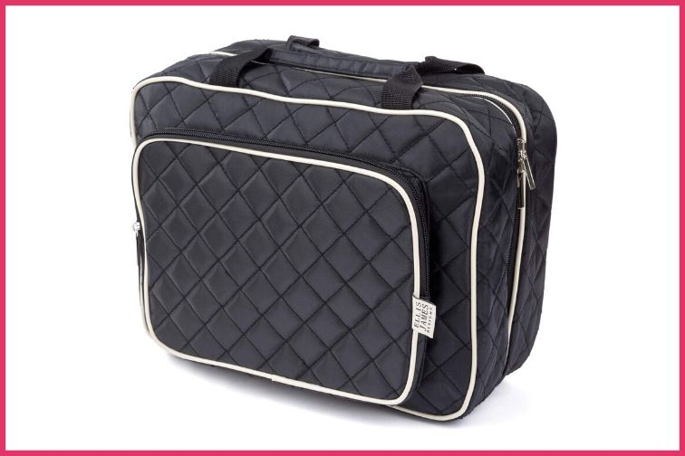 Ellis James Designs Large Travel Toiletry Bag with Hanging Hook; Courtesy of Amazon