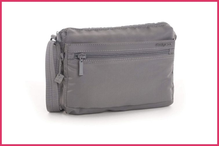 Hedgren Womens RFID Shoulder Titanium Bag