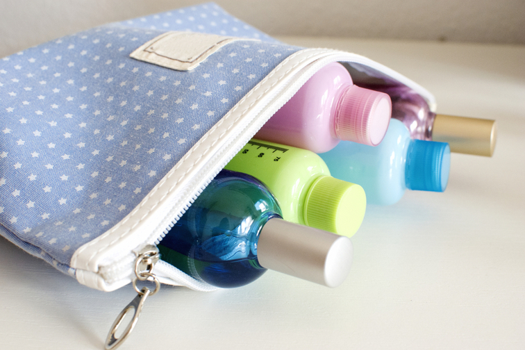 Toiletry bag with liquids