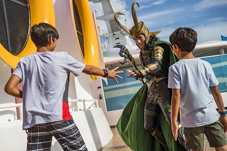 Marvel day at sea character encounters; Courtesy Disney