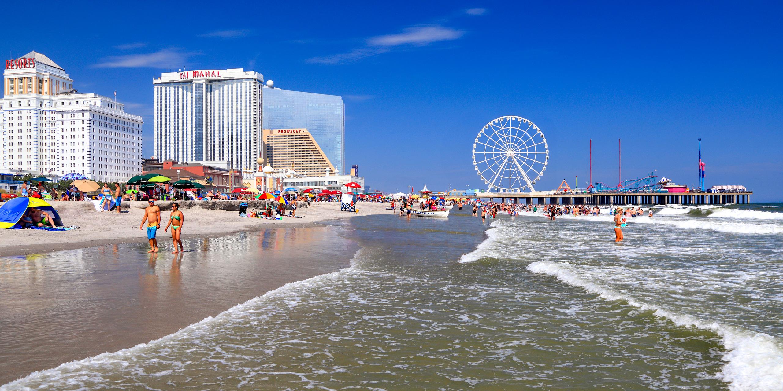 Beach and Steel Pier in Atlantic City; Courtesy Vlad G/Shutterstock