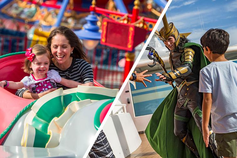 Toddler Rides at Disney World vs. Marvel Day at Sea on Disney Cruise Line