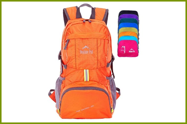 Orange Venture Pal Ultralight Backpack