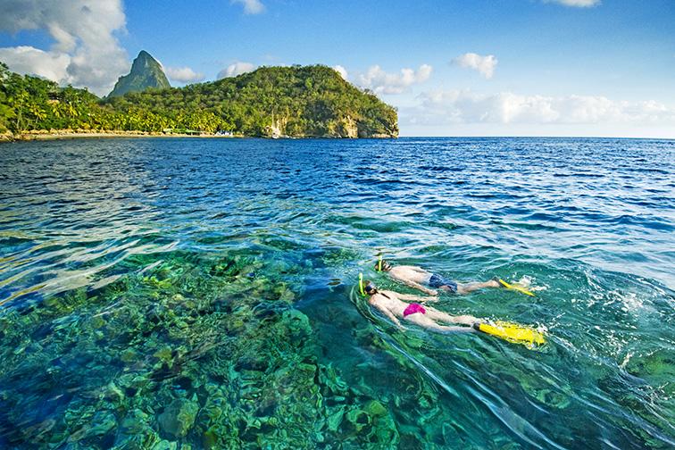 Anse Chastanet Resort snorkeling; Courtesy Anse Chastanet Resort