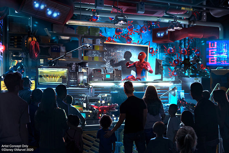 Rendering of Avengers Campus at Disneyland