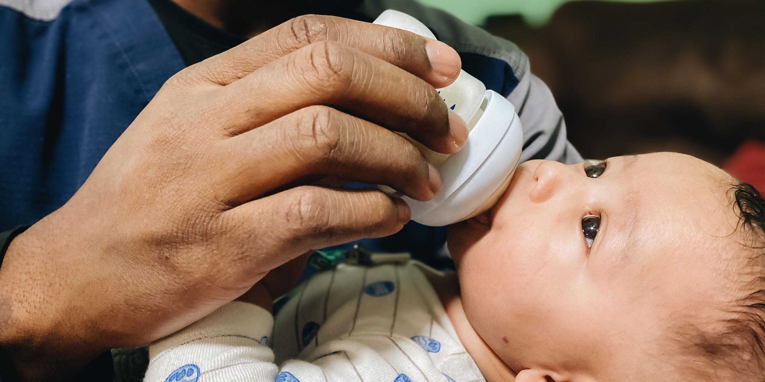 Baby drinking bottle; Courtesy of Twenty20