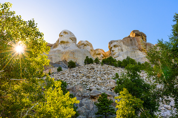 Mount Rushmore National Memorial in the Black Hills National Forest, South Dakota; Courtesy AMB-MD Photography/Shutterstock
