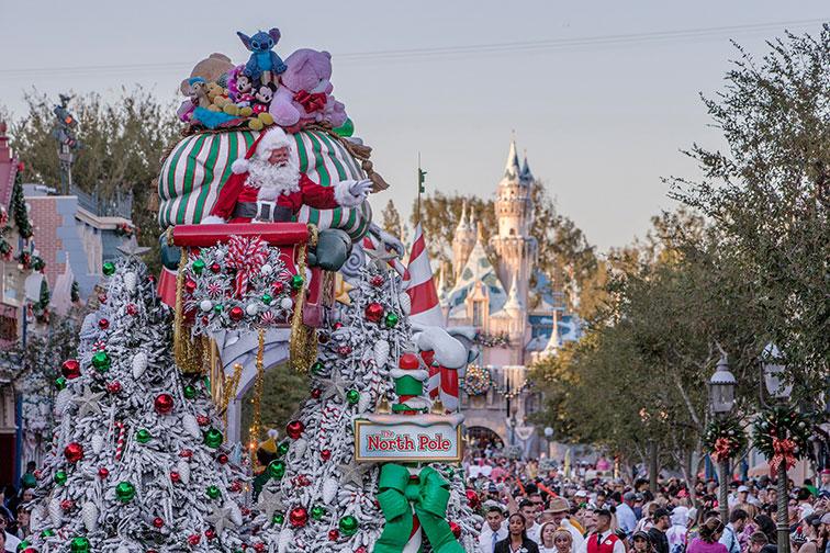 Christmas at Disneyland in California