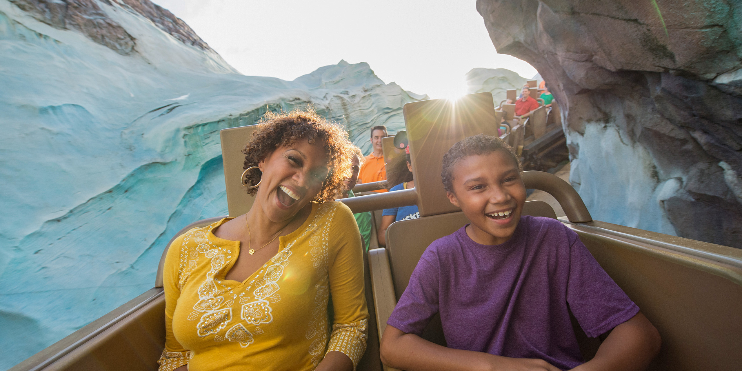 Expedition Everest ride family;
