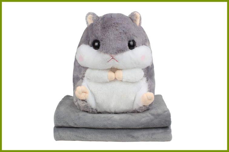 Kosbon 3 in 1 hamster plush Stuffed Animal/Pillow/Blanket