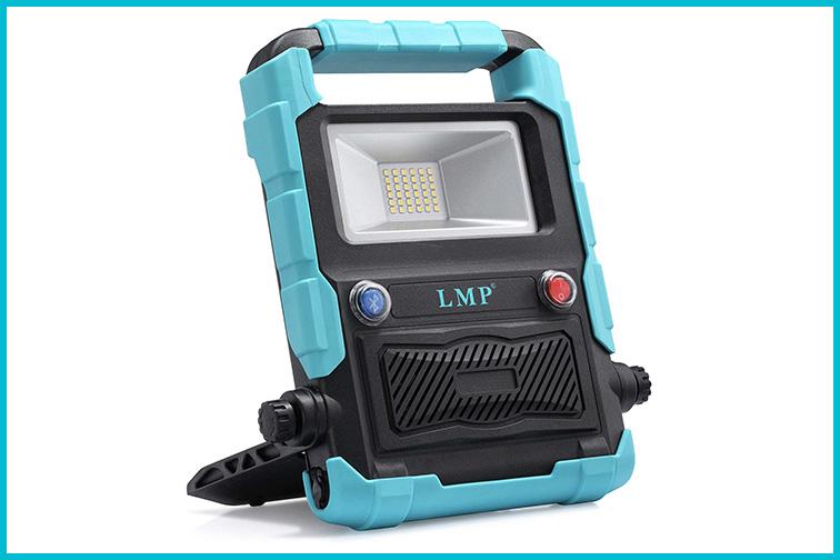 LMP Portable LED Work Light Bluetooth Speaker; Courtesy Amazon
