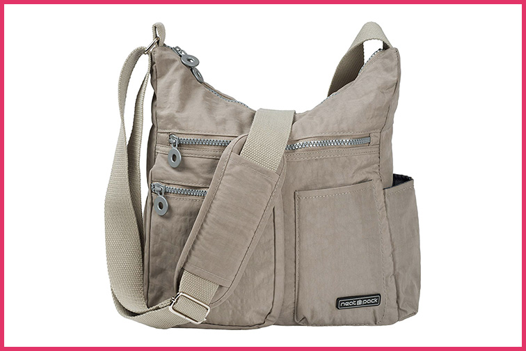NeatPack Crossbody Bag for Women with Anti Theft RFID Pocket; Courtesy Amazon