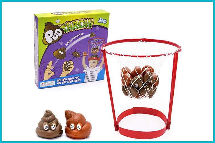 Poo Throw Poop Shot Basketball Game; Courtesy Amazon