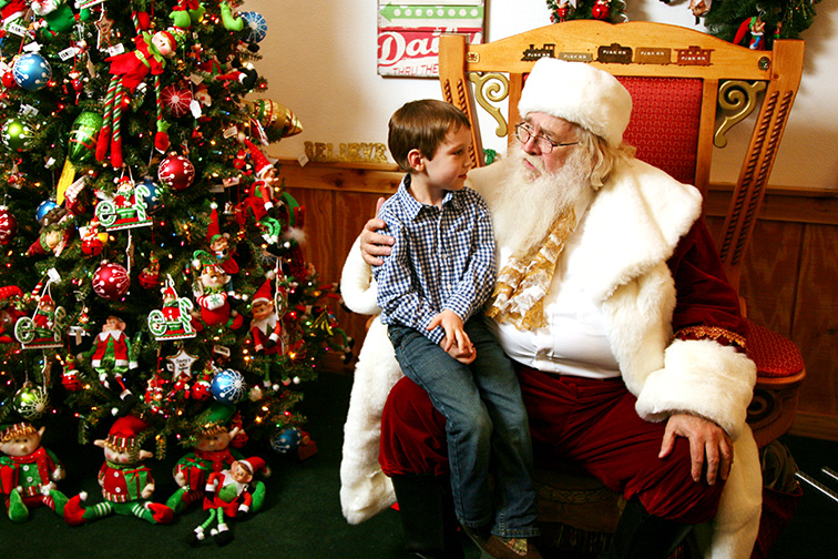 ind Santa at the Santa Claus Christmas Store and get your holiday wishes in early.; Courtesy Spencer County Visitors Bureau.