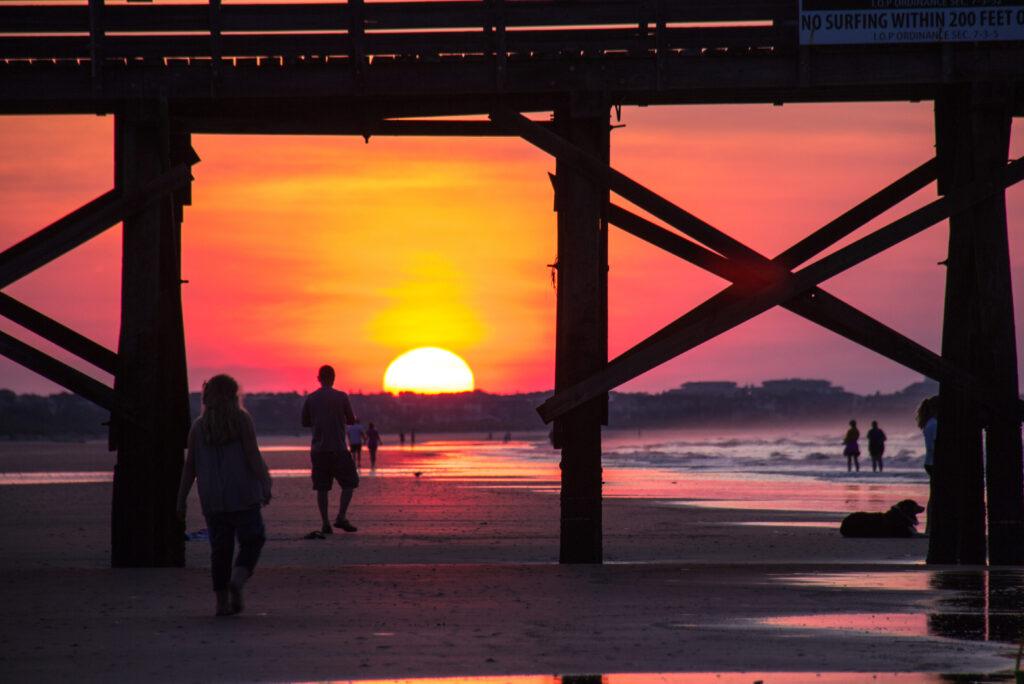 sunrise on the beach in Isle of Palms, SC; Courtesy CJ Sugg/Shutterstock
