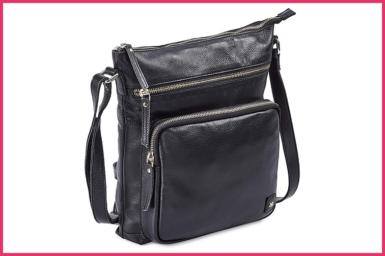 Wise Owl Genuine Leather Crossbody Handbag; Courtesy Amazon