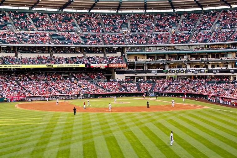 Angel Stadium – Anaheim, CA; Courtesy KPegg/Shutterstock