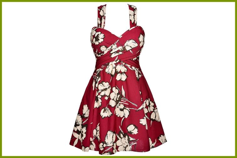 COCOPEAR Vintage Skirted Swimsuit