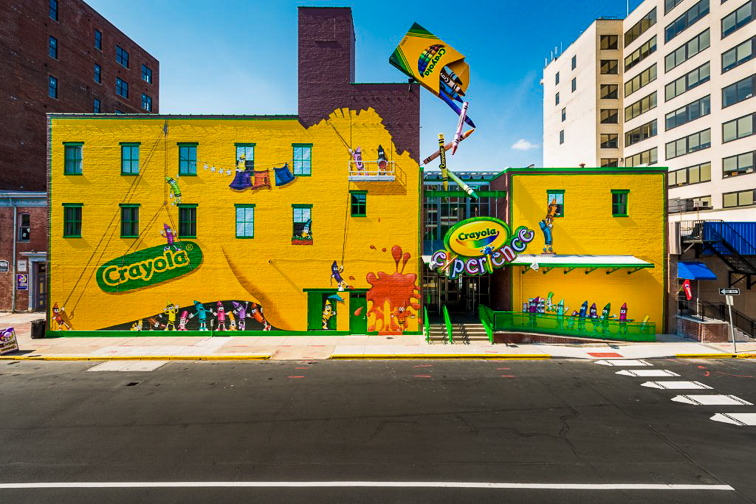 Crayola Experience Easton, Pennsylvania; Courtesy Crayola Experience