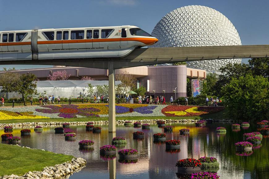 Richly-hued flowers and floating gardens adorn the Epcot International Flower & Garden Festival; Courtesy Disney