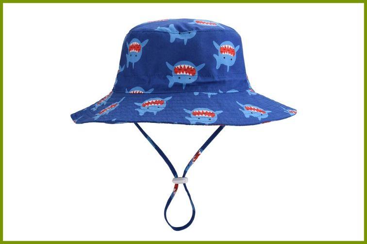 Toddler Wide Brim Sun Hat Summer Beach Sun Protection Hat Girls Boys Swim Hat