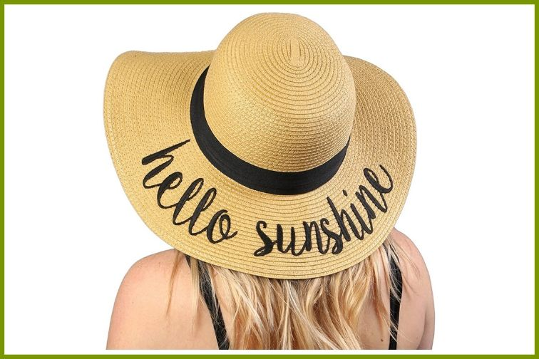 Funky Junque Embroidered Floppy Sun Hat