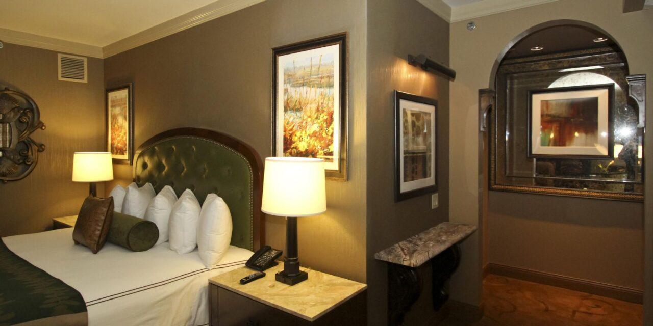 Guestroom at L'Auberge Casino Resort Lake Charles; Courtesy of L'Auberge Casino Resort Lake Charles